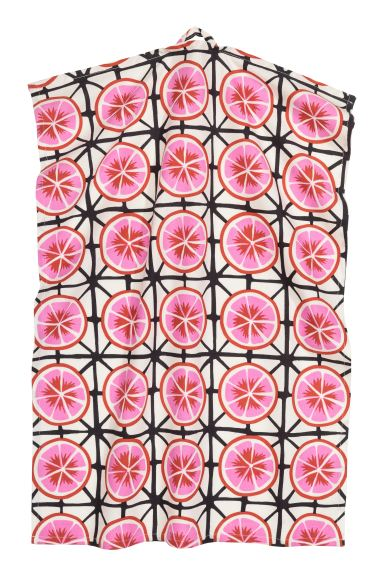 Patterned tea towel - White/Grapefruits - Home All | H&M IE