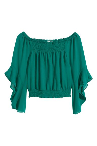 Boho blouse - Green - Ladies | H&M GB