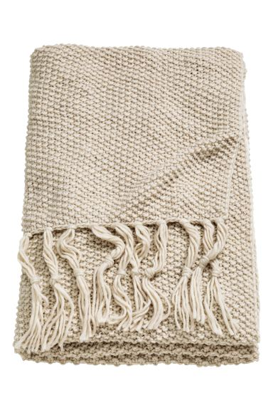 Moss-knit Throw - Beige - Home All | H&M US