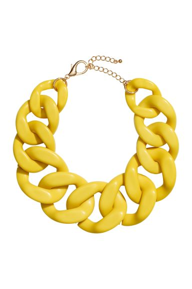 Chunky Necklace - Yellow - Ladies | H&M US