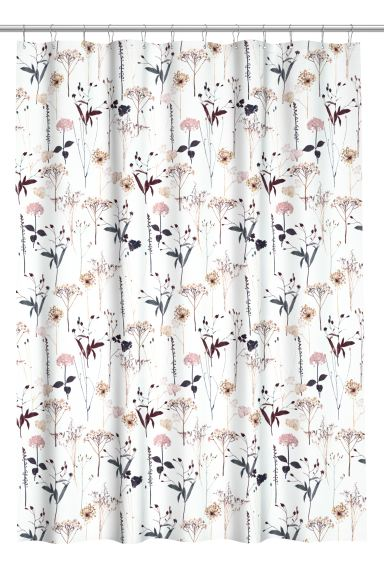 Patterned shower curtain - White - Home All | H&M GB