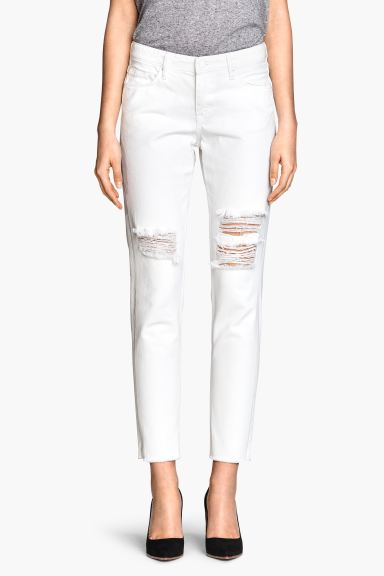 Girlfriend Jeans - Bianco - DONNA | H&M IT