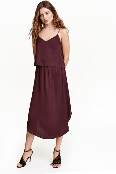 Satin dress - Plum - Ladies | H&M GB
