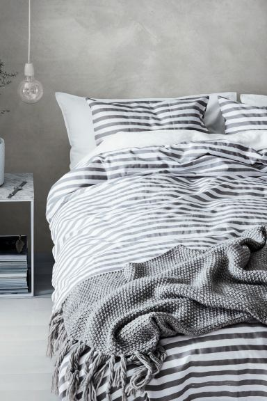 Striped Duvet Cover Set White Grey, Black And White Striped Bedding Queen