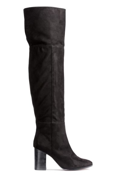Knee-high boots - Black - Ladies | H&M GB