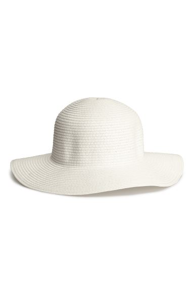 Straw hat - White - Ladies | H&M GB