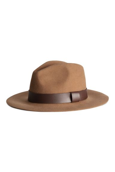 Wool hat - Dark beige - Ladies | H&M GB