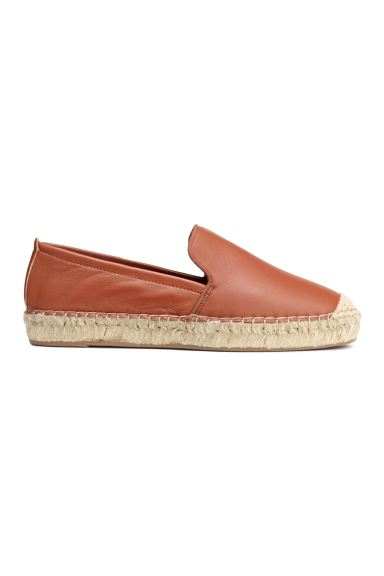 Leather espadrilles - Brown - Ladies | H&M GB