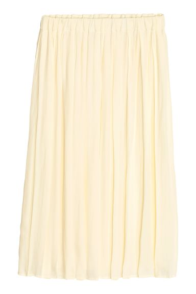 Pleated skirt - Natural white - Ladies | H&M GB