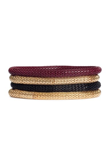 4-pack bracelets - Burgundy - Ladies | H&M GB