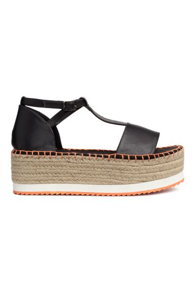Platform sandals - Black - Ladies | H&M GB