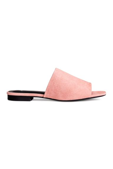Peep-toe mules - Powder pink - Ladies | H&M GB