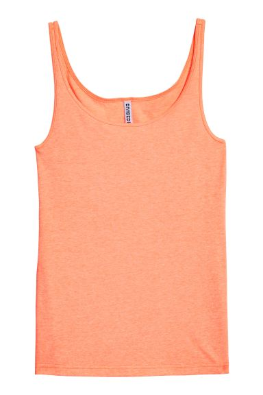 Jersey Tank Top - Neon orange - Ladies | H&M CA