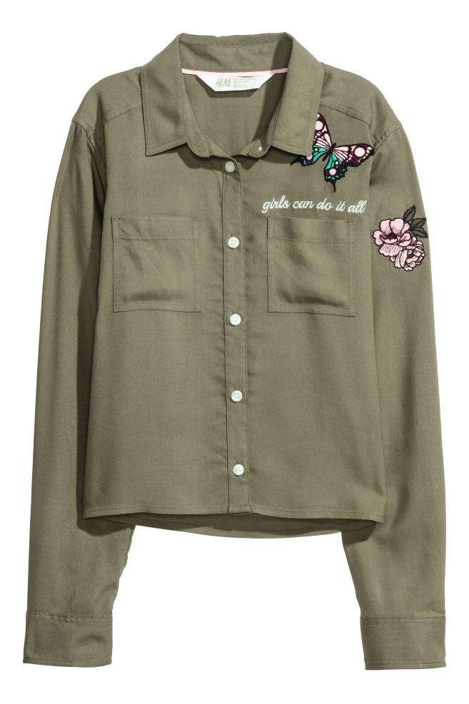 Kort skjorta - Khakigrön - BARN | H&M SE 1
