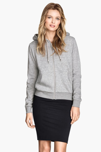 Hooded jacket - Dark grey - Ladies | H&M