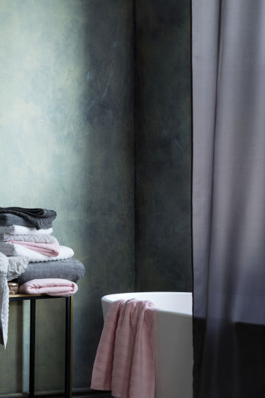 Shower curtain - Dark grey - Home All | H&M CN