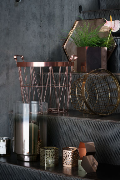 Metal basket - Copper - Home All | H&M GB