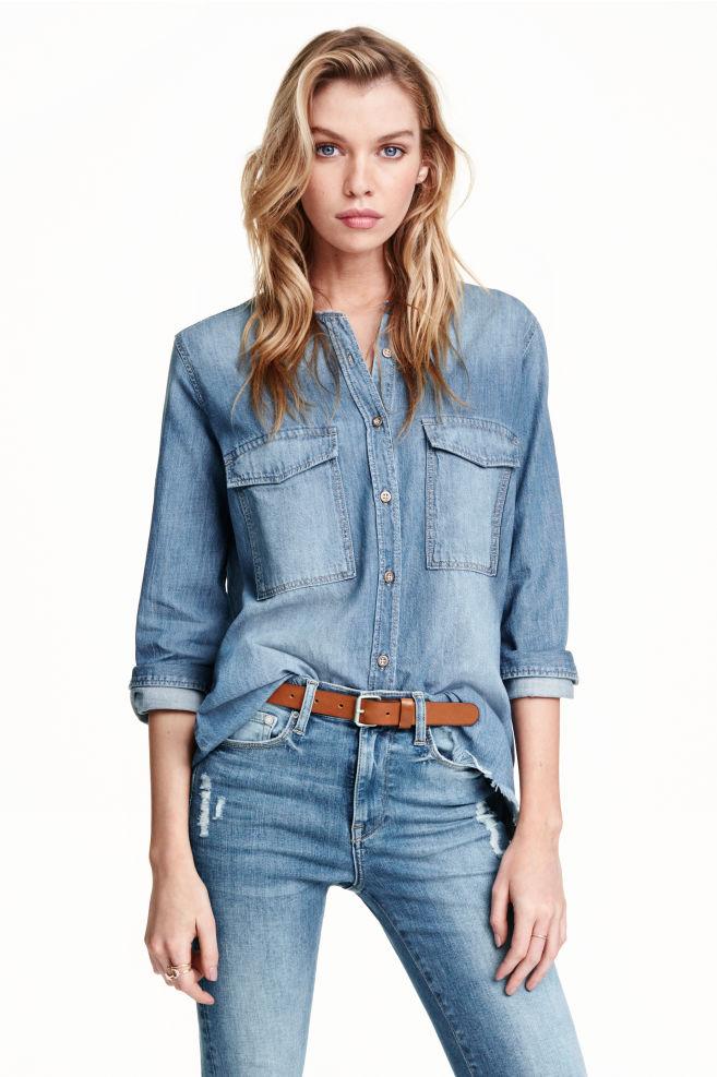 7840ca0fb6a Denim shirt - Denim blue - Ladies