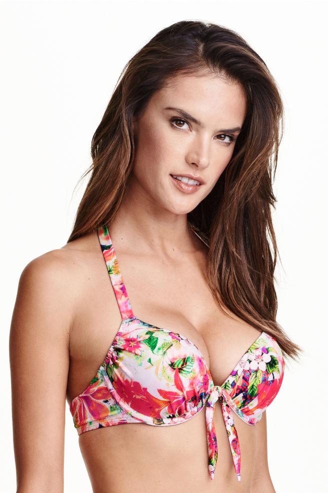303dd1bef8 Haut de maillot super push-up - Blanc/fleuri - FEMME   H&M FR