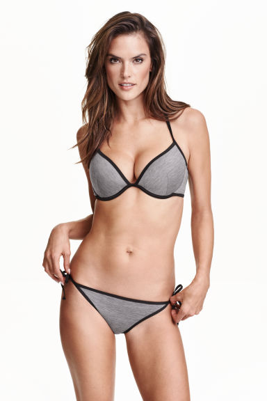 Bikini bottoms - Grey marl - Ladies | H&M IE