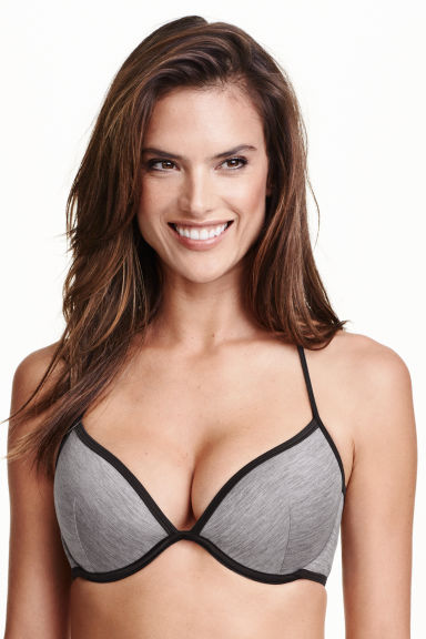 Push-up bikini top - Grey marl -  | H&M GB