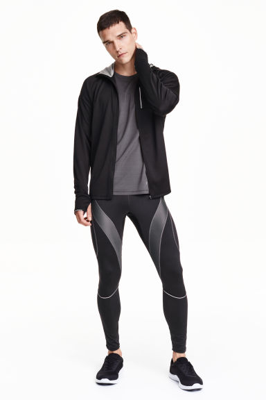 Running tights - Black - Men | H&M