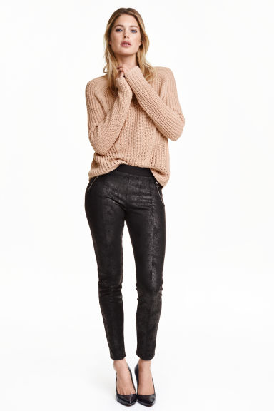Jersey leggings - Black/Metallic - Ladies | H&M GB