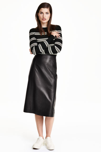 Leather skirt - Black - Ladies | H&M GB