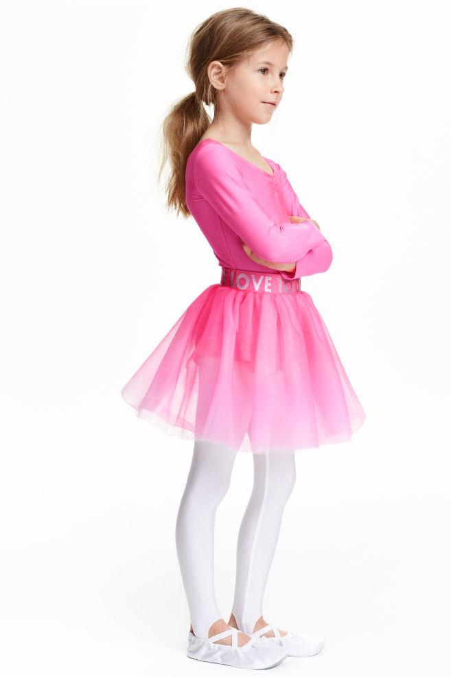 62424e132030f1 Balletrokje van tule - Cerise - KINDEREN