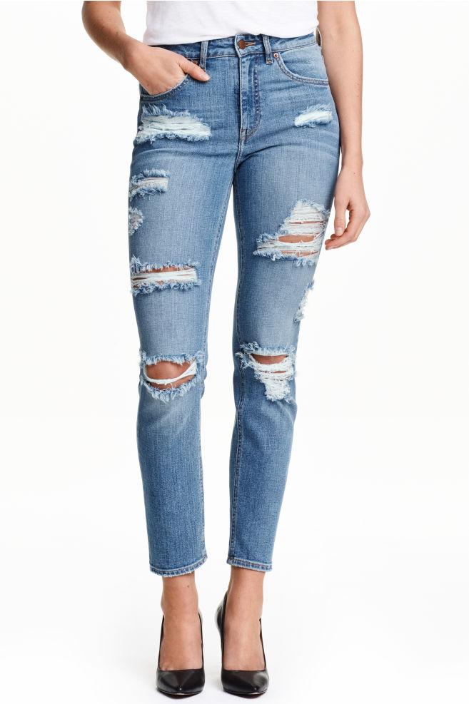 trashed jeans damen