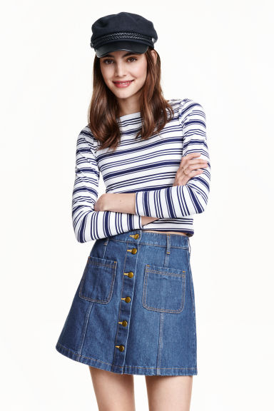 A-line skirt - Denim blue -  | H&M GB