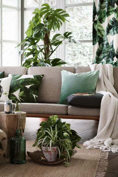 Velvet cushion cover - Green - Home All | H&M GB