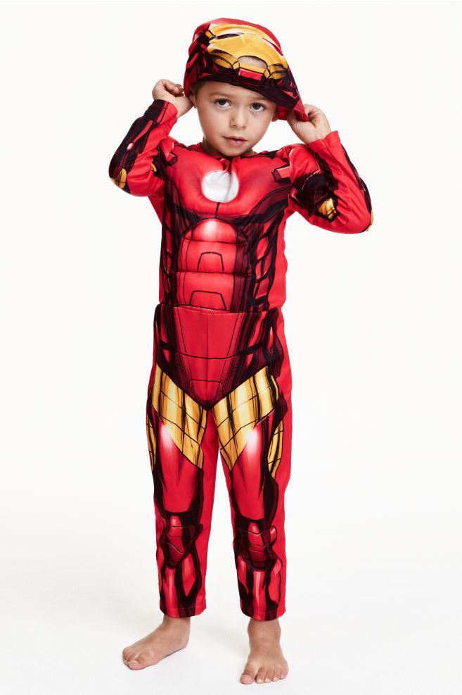 Costume Da Super Eroe Rossoiron Man Bambino Hm It