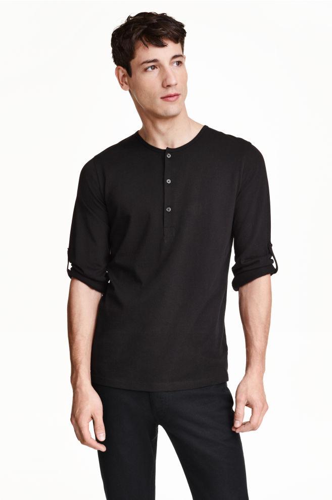 244edd8802d52a Koszulka z długim rękawem - Czarny - ON | H&M ...