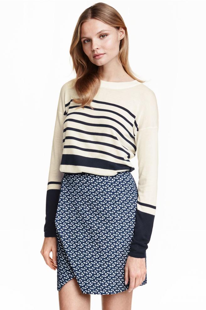 6751f27229 Csíkos pulóver - Fehér/sötétkék - NŐI | H&M ...