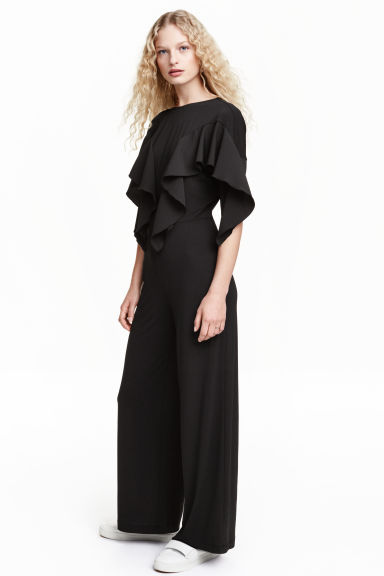 Flounced jumpsuit - Black - Ladies | H&M GB