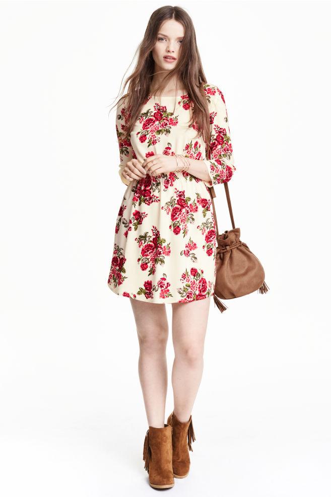 c4e0dfa6d688 Šaty z viskózy - prírodná biela kvetovaná - ŽENY