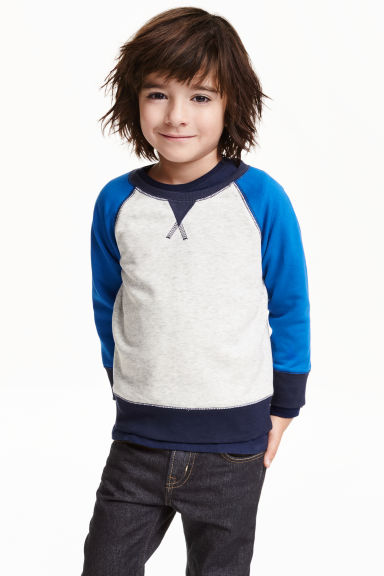Sweatshirt - Light grey marl - Kids | H&M CN