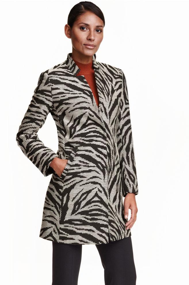 0ccd8660f3eb Mintás kabát - Fekete/fehér - NŐI | H&M ...