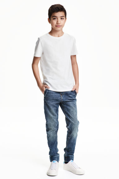 Pantalon jogger en jean - Bleu denim - ENFANT | H&M BE