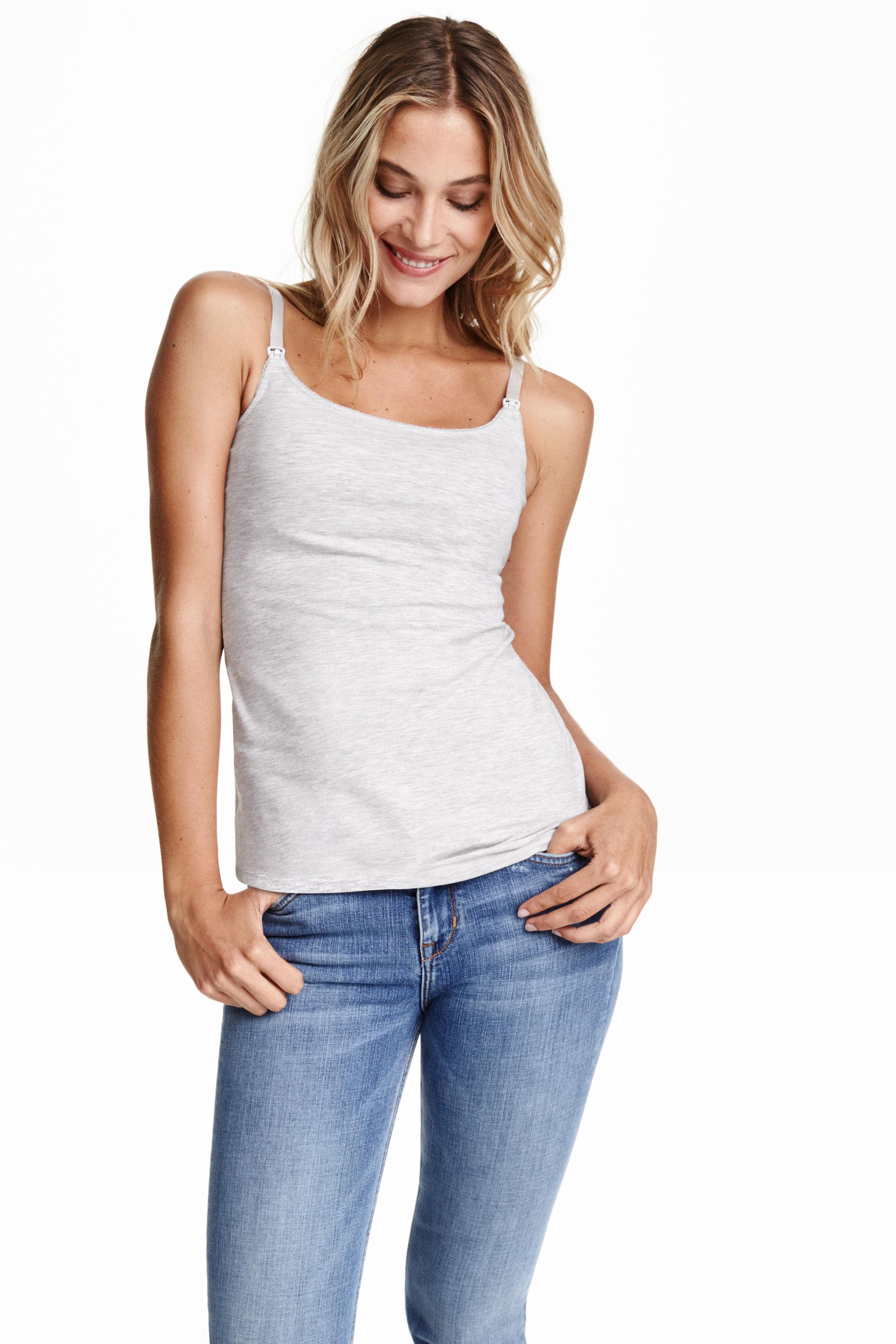 MAMA 2-pack nursing tops - White/Black - Ladies | H&M GB