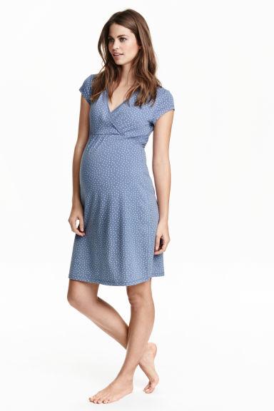 MAMA Camicia da notte jersey - Blu fantasia - DONNA  9b27ca065fe