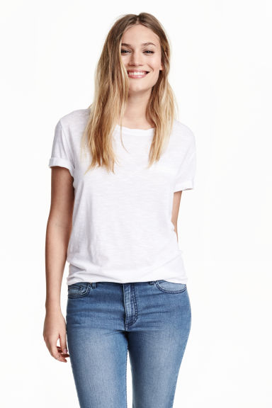 Top in jersey - Bianco - DONNA | H&M IT
