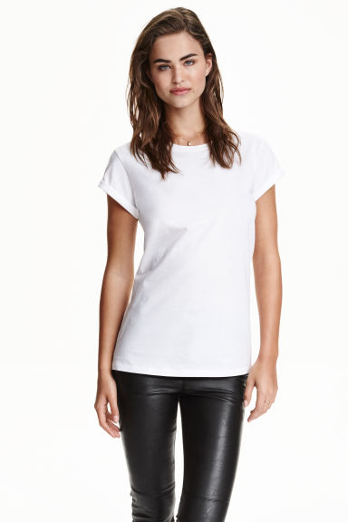 Jersey top - White - Ladies | H&M GB