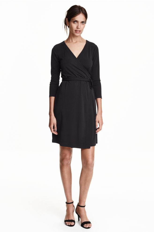 05b04d78e135b Wrap dress - Black - Ladies | H&M ...