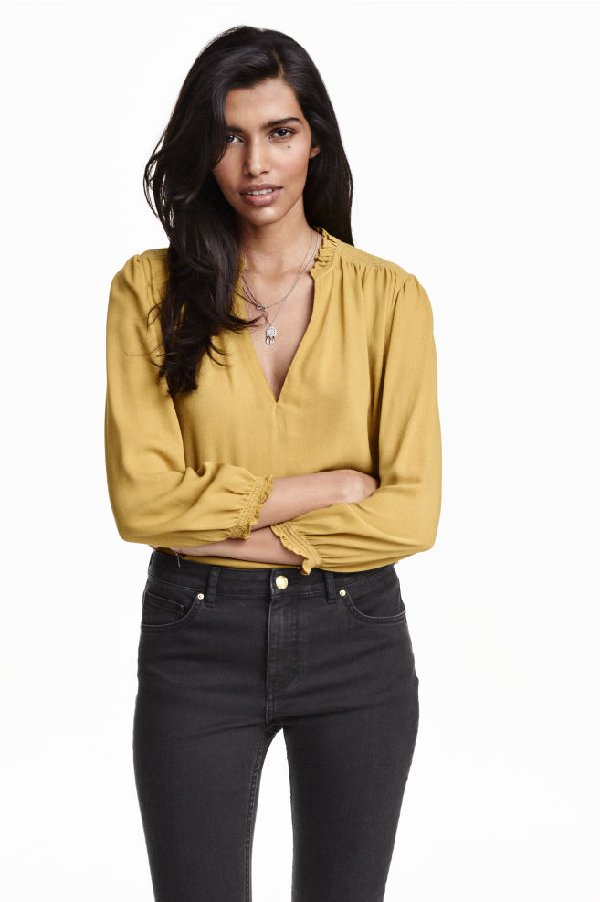 c1781f8bf Blusa en georgette - Amarillo - MUJER