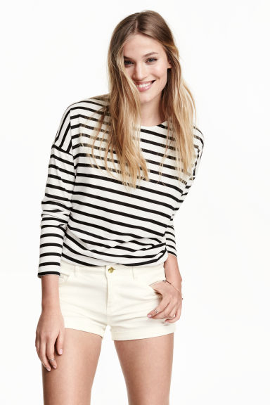 Shorts in twill - Bianco - DONNA | H&M IT