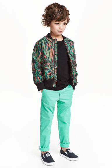 Skinny fit chinos - Green - Kids | H&M GB