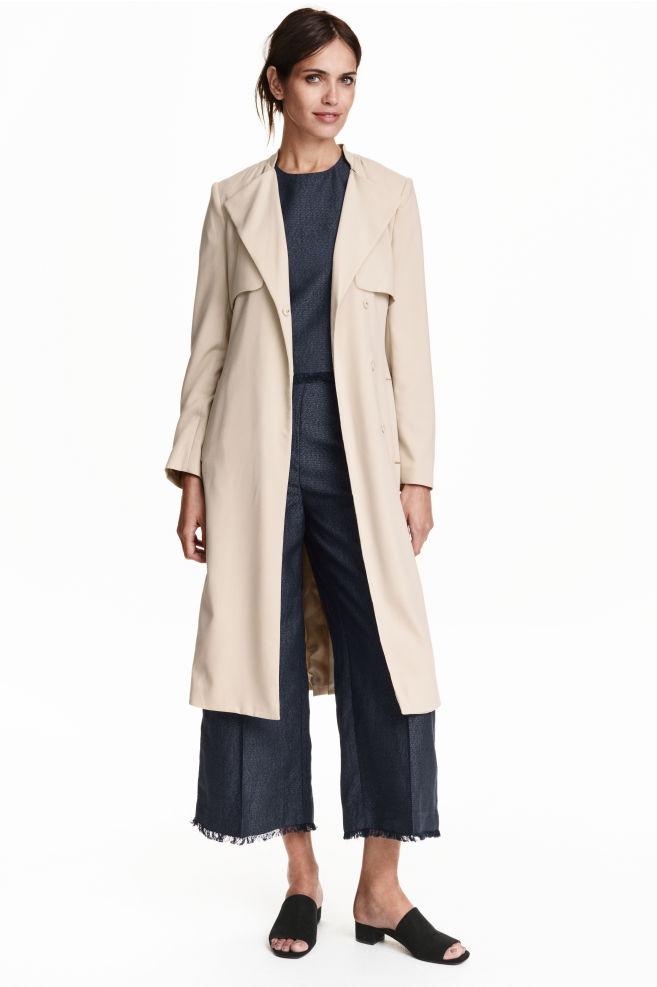 6f68d82099 Trenchcoat - Light beige - Ladies | H&M ...