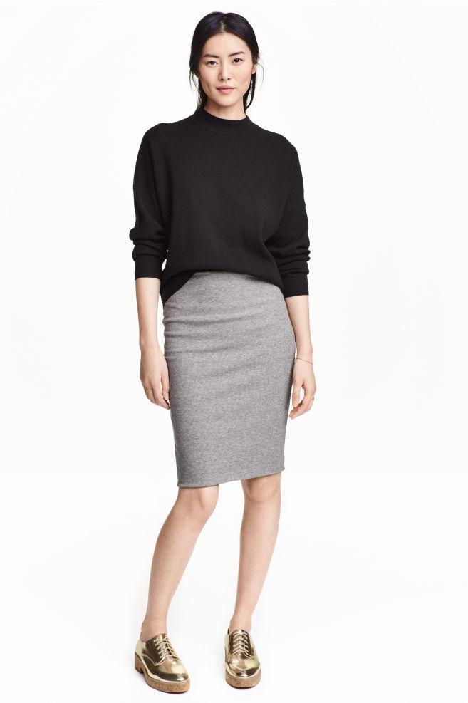 Úzká sukně - Šedý melír - ŽENY  910da4f664